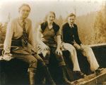 Wynn and Mary dePencier with friend Bert (?) (L to R)