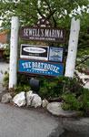 Signage for Sewell's Marina & The Boathouse