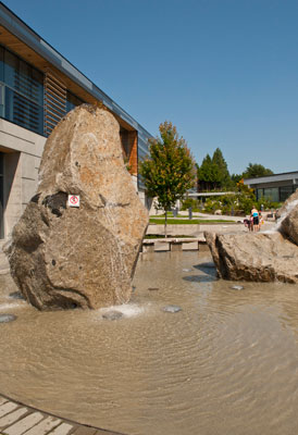 Fountain at the West Vancouver Community Centre