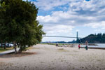 Ambleside Beach & Lions Gate Bridge