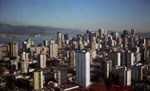 Aerial View of Vancouver, Burrard Inlet & North Shore Mountains