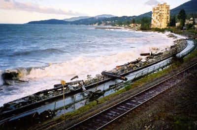 Debris on Centennial Seawalk