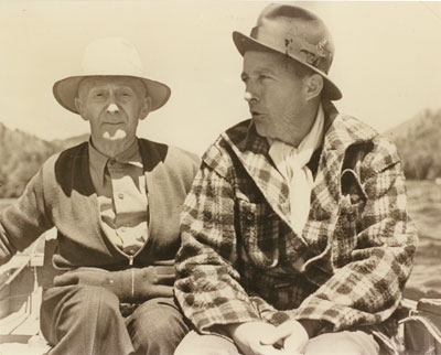 Dan Sewell fishing with Bing Crosby