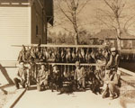 Sewell Family and friends on a hunting trip in Brooks, Alberta