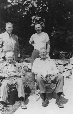 Portrait of Dan Sewell, Reeve J. Richardson, Bruce Mehaffery, & Gentleman