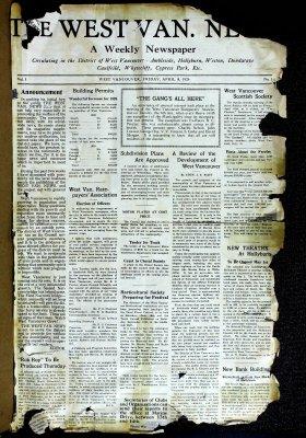 West Van. News (West Vancouver), 9 Apr 1926