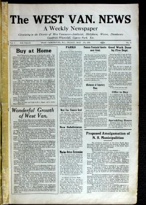 West Van. News (West Vancouver), 7 May 1926