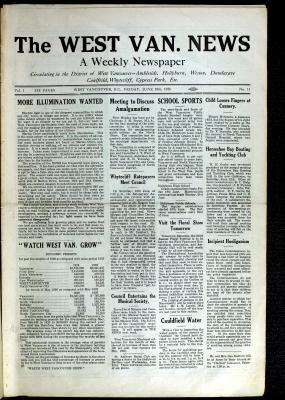 West Van. News (West Vancouver), 18 Jun 1926