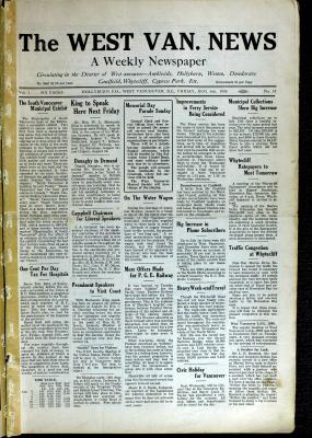 West Van. News (West Vancouver), 6 Aug 1926
