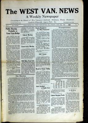 West Van. News (West Vancouver), 13 Aug 1926