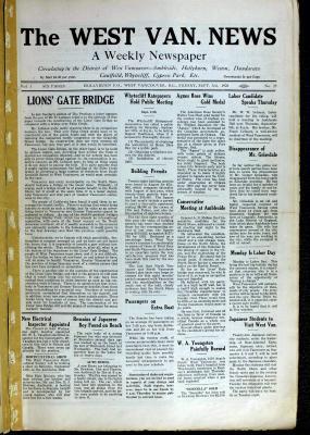 West Van. News (West Vancouver), 3 Sep 1926
