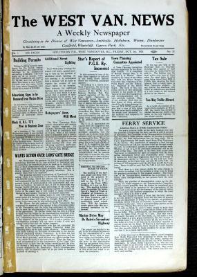 West Van. News (West Vancouver), 1 Oct 1926
