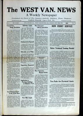 West Van. News (West Vancouver), 22 Oct 1926