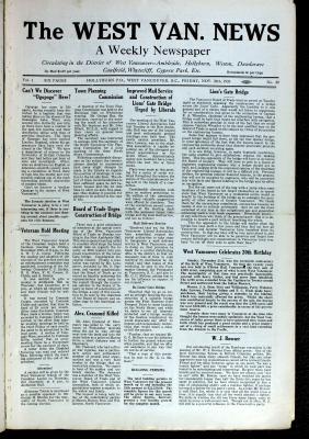 West Van. News (West Vancouver), 26 Nov 1926