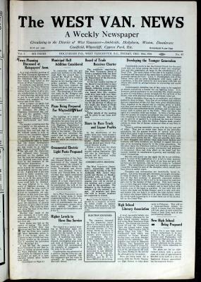 West Van. News (West Vancouver), 10 Dec 1926