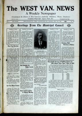 West Van. News (West Vancouver), 31 Dec 1926
