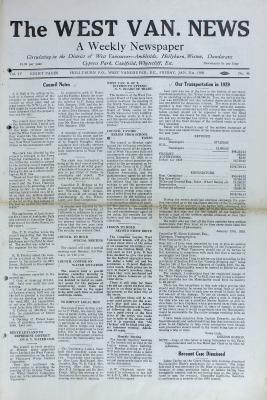 West Van. News (West Vancouver), 31 Jan 1930