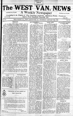 West Van. News (West Vancouver), 25 Jan 1940