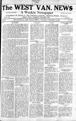 West Van. News (West Vancouver), 1 Feb 1940
