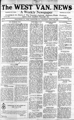 West Van. News (West Vancouver), 18 Apr 1940