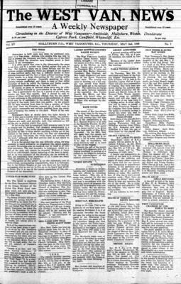 West Van. News (West Vancouver), 2 May 1940
