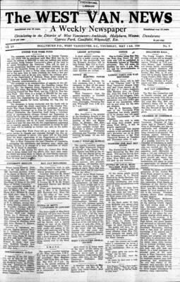 West Van. News (West Vancouver), 16 May 1940