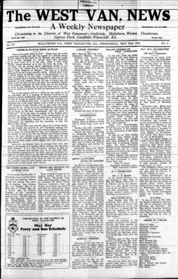 West Van. News (West Vancouver), 22 May 1940