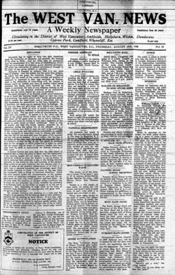 West Van. News (West Vancouver), 15 Aug 1940