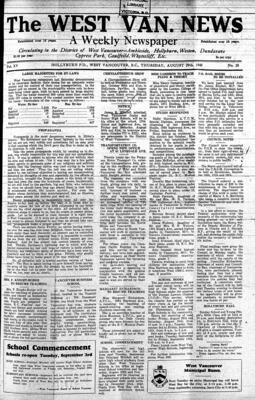 West Van. News (West Vancouver), 29 Aug 1940