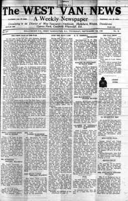West Van. News (West Vancouver), 5 Sep 1940
