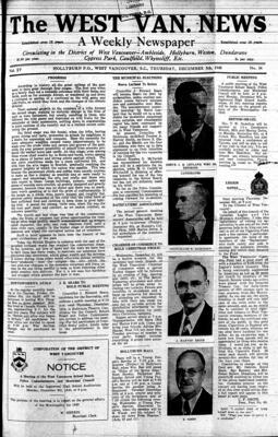 West Van. News (West Vancouver), 5 Dec 1940