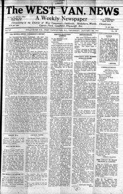 West Van. News (West Vancouver), 9 Jan 1941