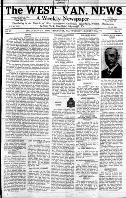 West Van. News (West Vancouver), 23 Jan 1941