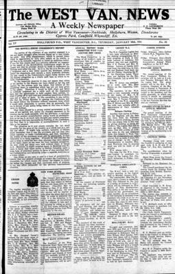 West Van. News (West Vancouver), 30 Jan 1941