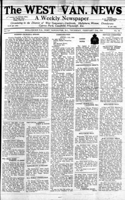 West Van. News (West Vancouver), 13 Feb 1941