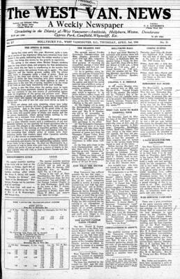 West Van. News (West Vancouver), 3 Apr 1941