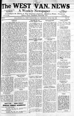 West Van. News (West Vancouver), 10 Apr 1941