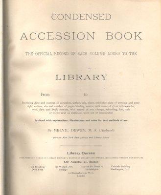 Waterloo Public Library Accession Books, 1905-ca.1936