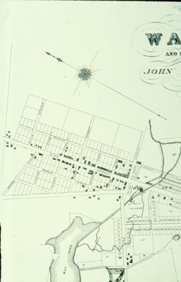 Map of Waterloo 1855 Showing Portion of Uptown Waterloo