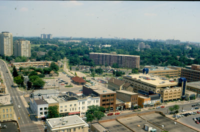 Aerial View of King Street South, Waterloo, Ontario