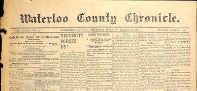 Waterloo County Chronicle