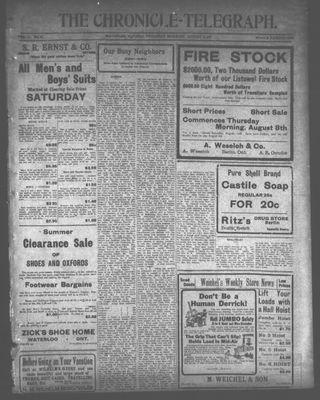 The Chronicle Telegraph (190101), 8 Aug 1912