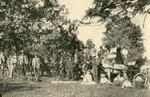 People, horses and wagons at Ontario Seed Company's Farm