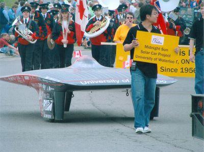 Waterloo's 150th Anniversary Parade, Midnight Sun Solar Car