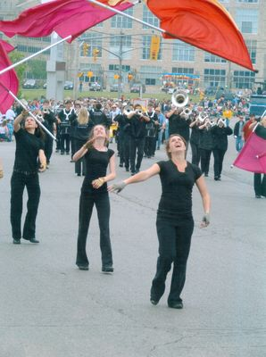 Waterloo's 150th Anniversary Parade, Flag Throwers