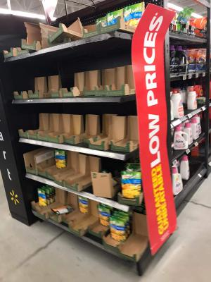 Bare Shelves at Ira Needles Walmart, Kitchener