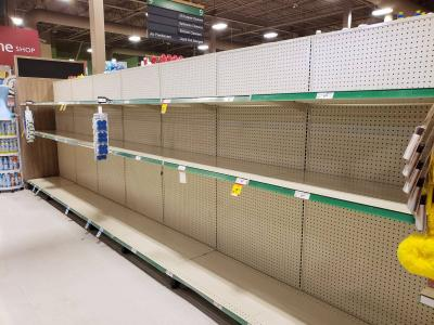 Empty Shelves at Columbia Sobey's, Waterloo