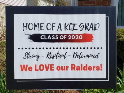 Kitchener-Waterloo Collegiate Institute Class of 2020 Lawn Sign