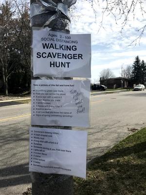 Westvale Neighbourhood Scavenger Hunt, Waterloo