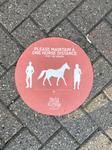 Social Distancing Sidewalk Sticker with Horse, Elmira